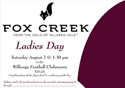 Fox Creek Ladies Day