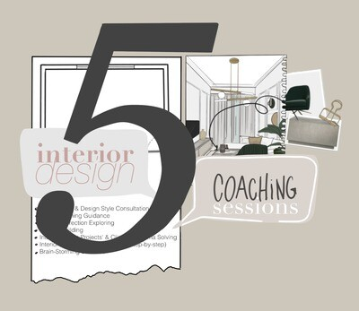 5 Sessions Package: 1 Hour of Interior Design Coaching (on Zoom)
