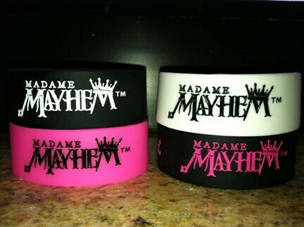 Madame Mayhem Rubber Wristband