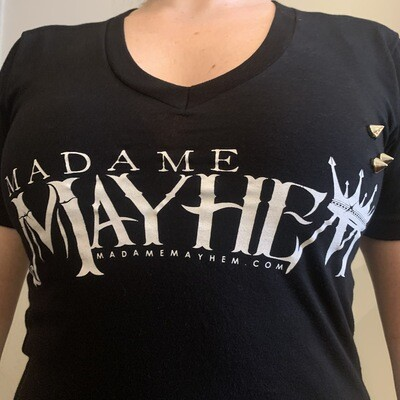 Madame Mayhem Logo Studded Tee