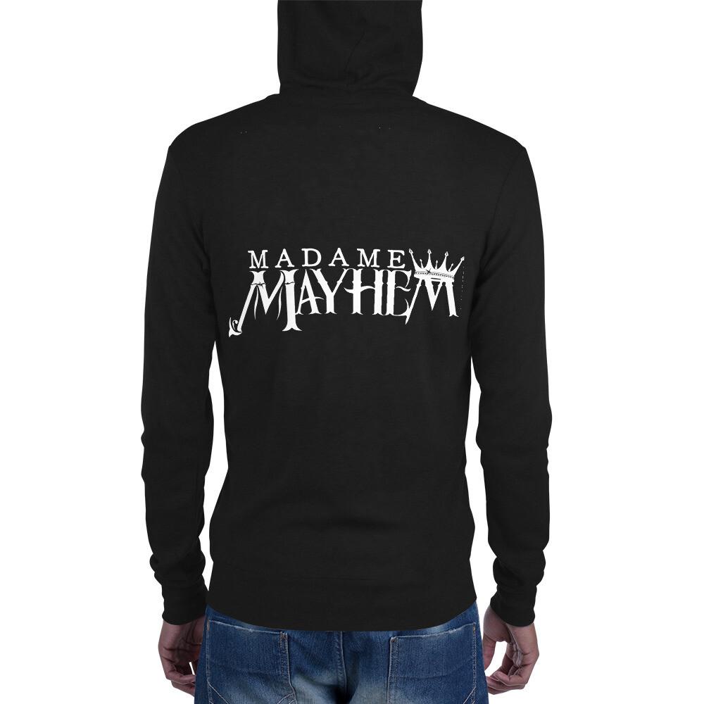 Skull & Bones - Unisex zip hoodie (Black)