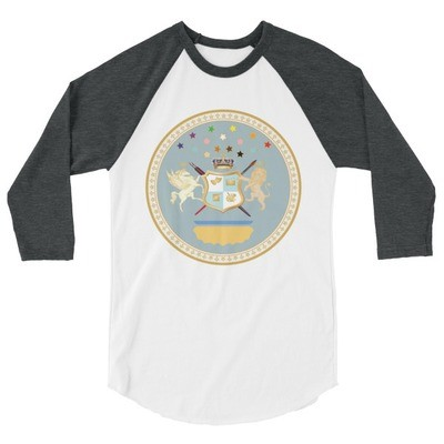 Duchess of Grant Park Seal 3/4 sleeve raglan shirt