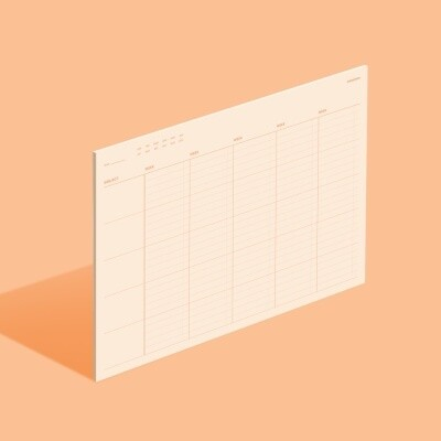 Planboard Weekly-Sand Peach