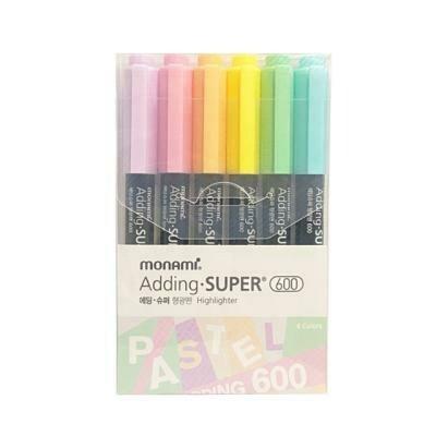 MONAMI Adding Super Pastel Highlighter 6 Color Set