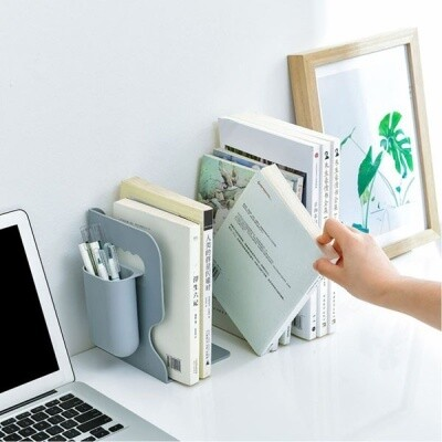 Bookend with Length Adjustment and Pen Storage