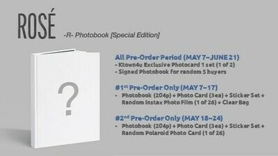 Rosé - R- Photobook [Special Edition] (1st Preorder-Sales)