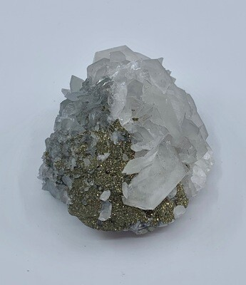 Pyrite Cluster with Calcite