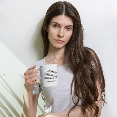 Doc Thompson's Rules White Ceramic Mug