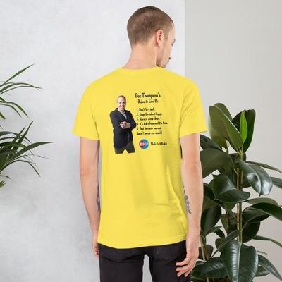 Doc Thompson's Rules – Light Color Short-Sleeve Unisex T-Shirt