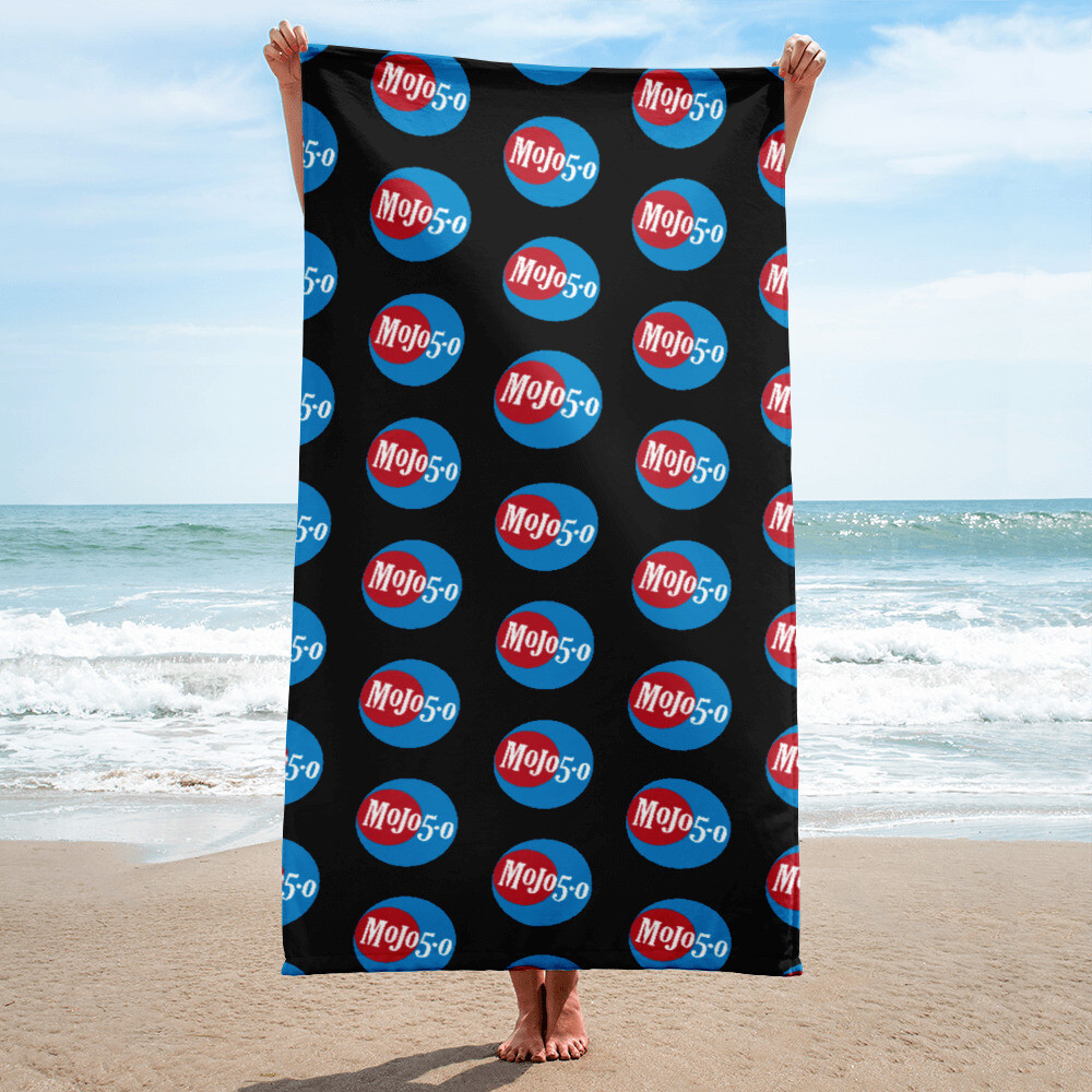 Mojo 5-0 Radio Logo Beach Towel
