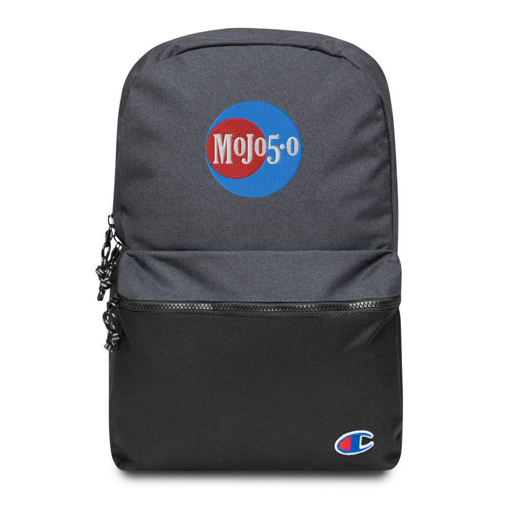 Mojo 5-0 Radio Embroidered Logo Champion Backpack