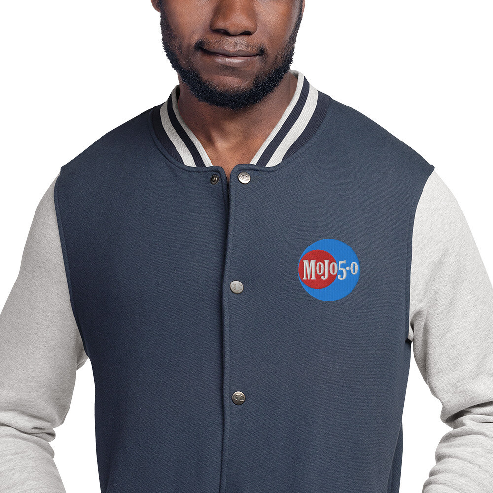 Mojo 5-0 Radio Embroidered Logo Champion Bomber Jacket