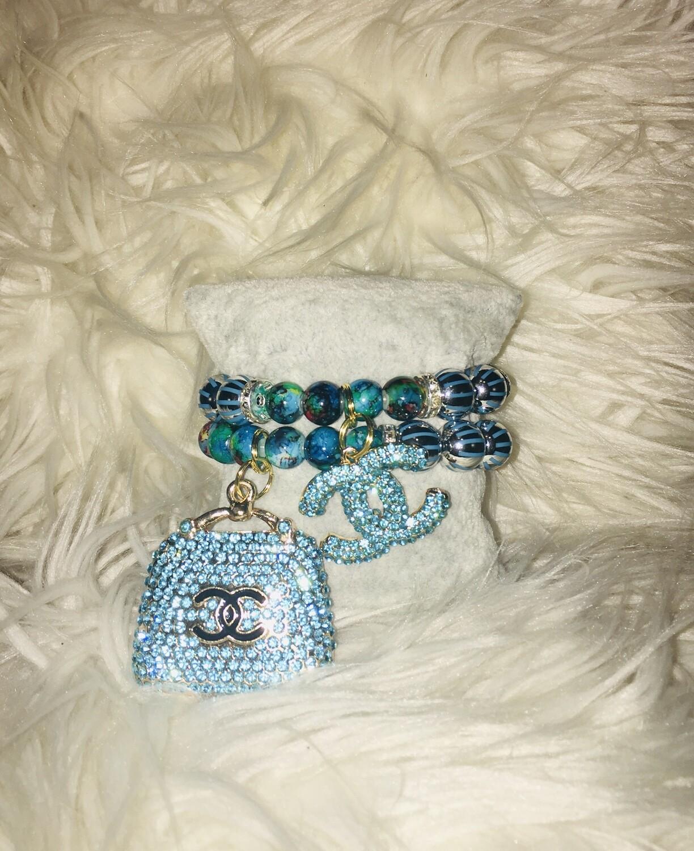 2pc Beaded Chanel Charm  Bracelets