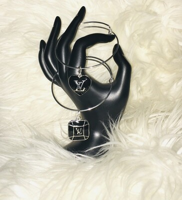 2pc Louis Vuitton Charm Bangles