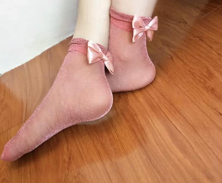 Cotton Candy Shimmer Socks