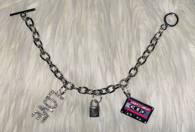 """Hey Love"" Toggle Charm Bracelet"