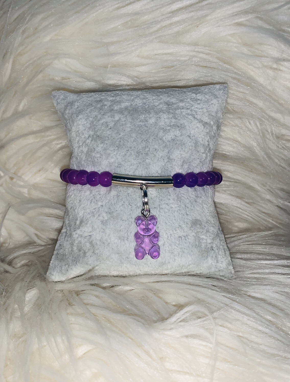 Lil Diva Yummy Gummy Charm Bracelet (Purple)