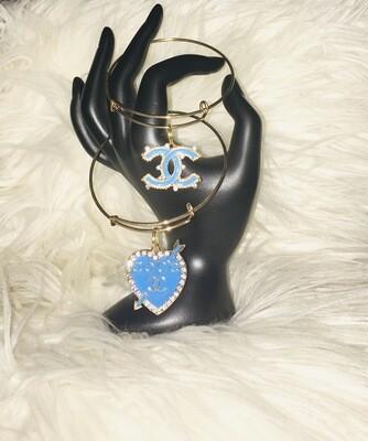 2pc Chanel Charm Bangles