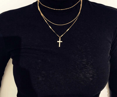 """Blessed Not Stressed"" Layered Necklace"