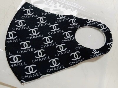 Black CC Fashion Mask