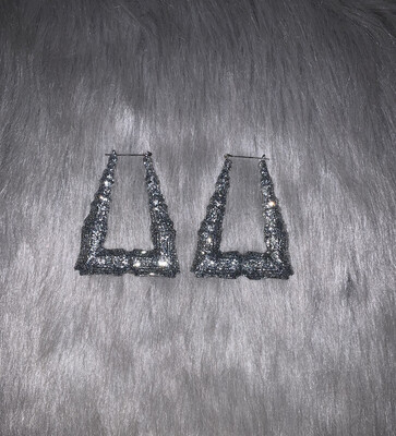 Silver Glitter Triangle Bamboos (LARGE)