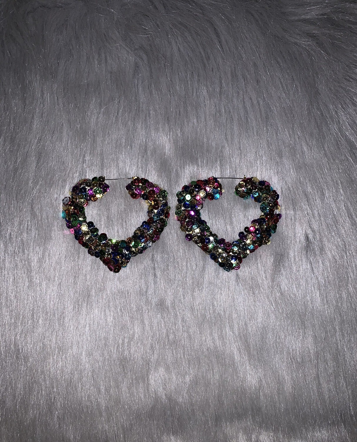 Confetti Sequin Heart Bamboos (LARGE)