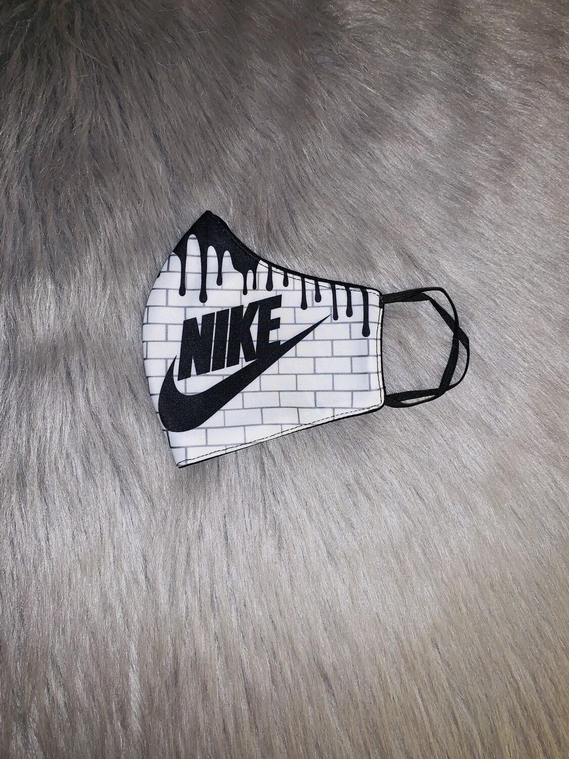 """Just Do It"" Black&White Drip Fashion Mask"