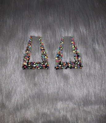 Fruity Pebble Silver Triangle Bamboos (LARGE)