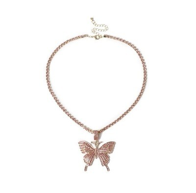 """Butterfly Dream"" Necklace (PINK)"