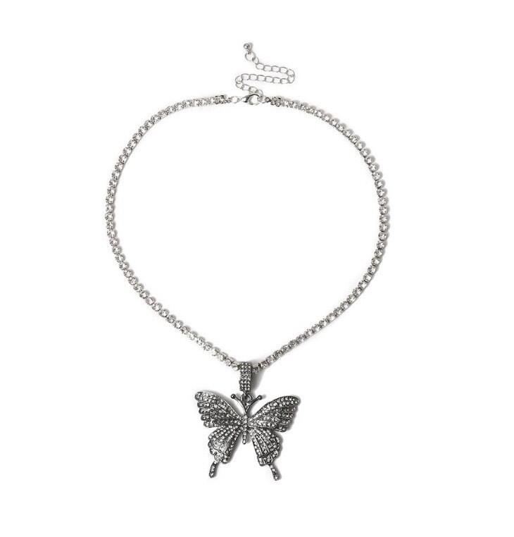 """Butterfly Dream"" Necklace (DARK SILVER)"