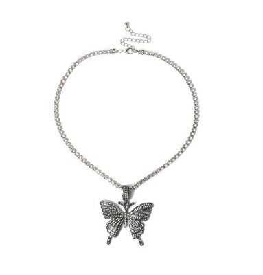"""Butterfly Dream"" Necklace (DARK SILVER)"