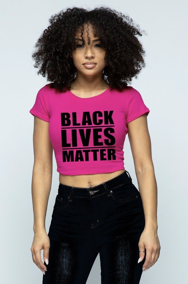 """Black Lives Matter"" Crop Top (PINK)"
