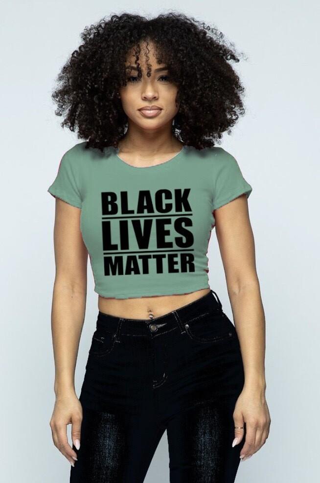 """""""Black Lives Matter"""" Crop Top (GREEN)"""