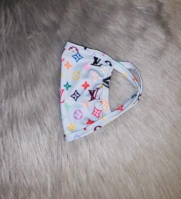 Pale Grey Multicolored (LV) Fashion Mask