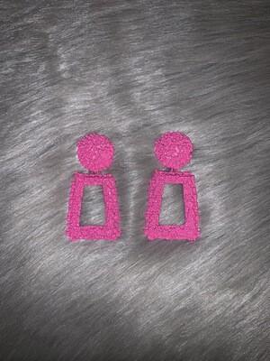 """""""Pink Cluster"""" Flinstone Earrings"""