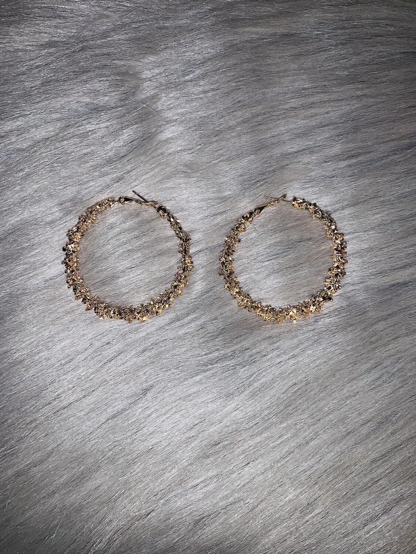 """Gold Cluster"" Hoops"