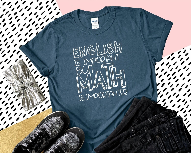 English Math Teacher Shirt