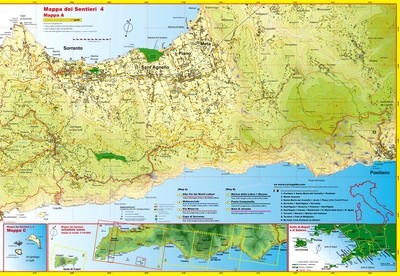 Cart&Guide num. 4 - Detailed walking maps from Positano to Sorrento