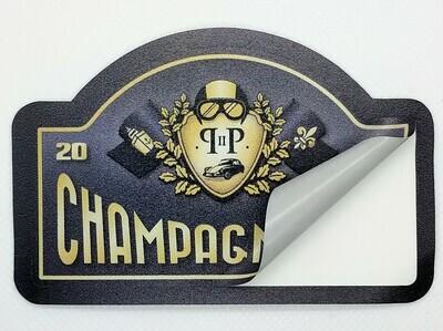 Rallyschild Champagne Run sticker