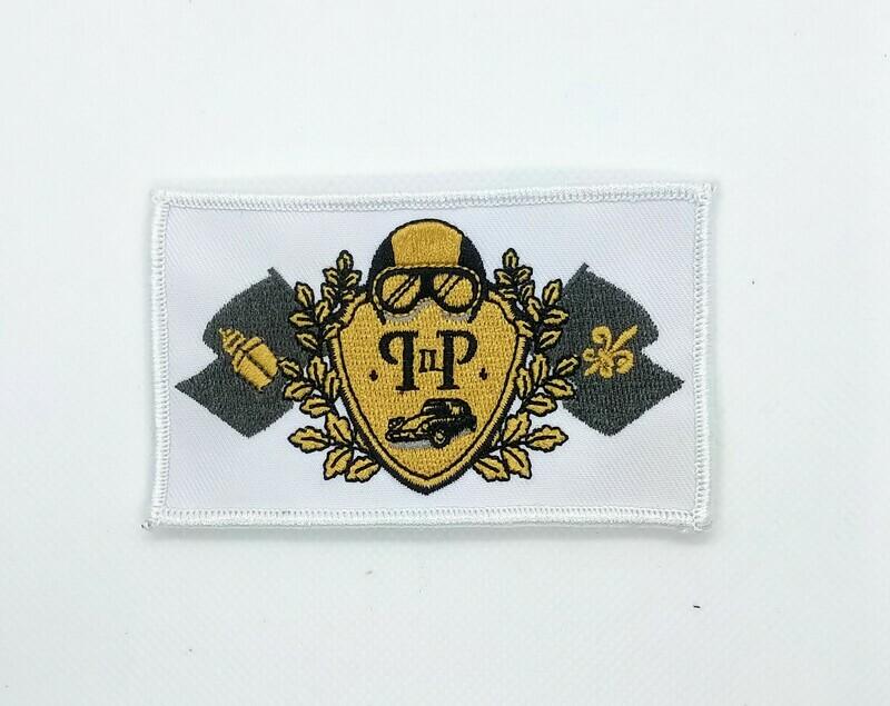 P2P logo badge wit