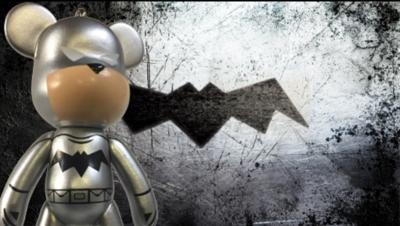BatBear SE Silver Keychain