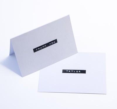 'Thank You' Card + Custom Name
