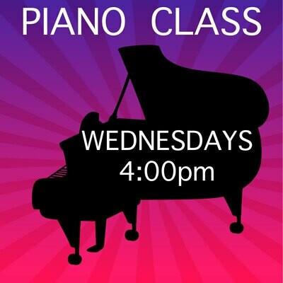 Piano ONLINE - Wednesdays 4:00-4:45pm