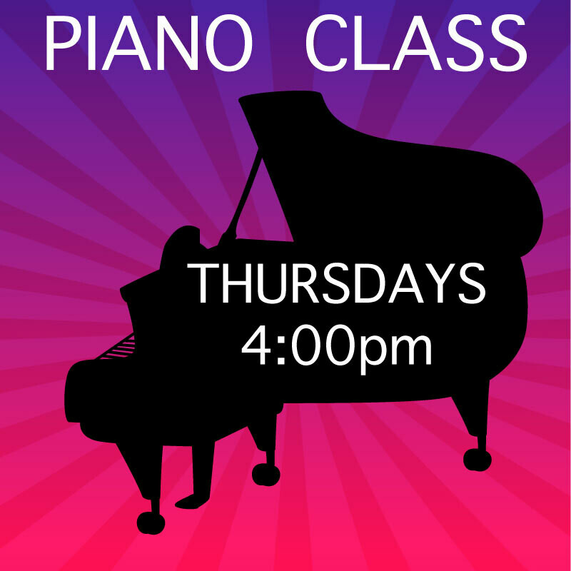 Piano ONLINE - Thursdays 4:00-4:45pm