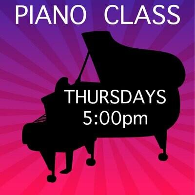 Piano ONLINE - Thursdays 5:00-5:45pm