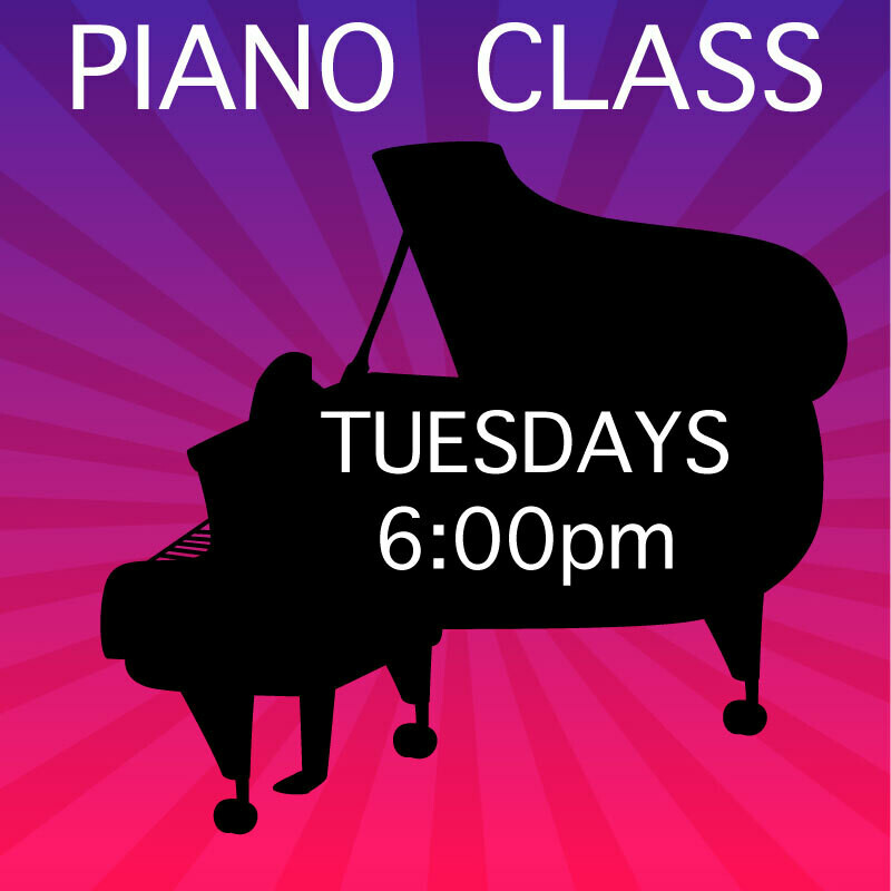 Piano ONLINE* - Tuesdays 6:00-6:45pm