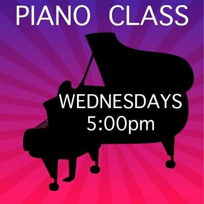 Piano ONLINE - Wednesdays 5:00-5:45pm