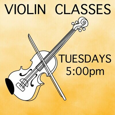 Violin* ONLINE - Tuesdays 5:00pm-5:45pm