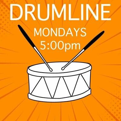 Drumline* - Mondays 5:00-5:45pm