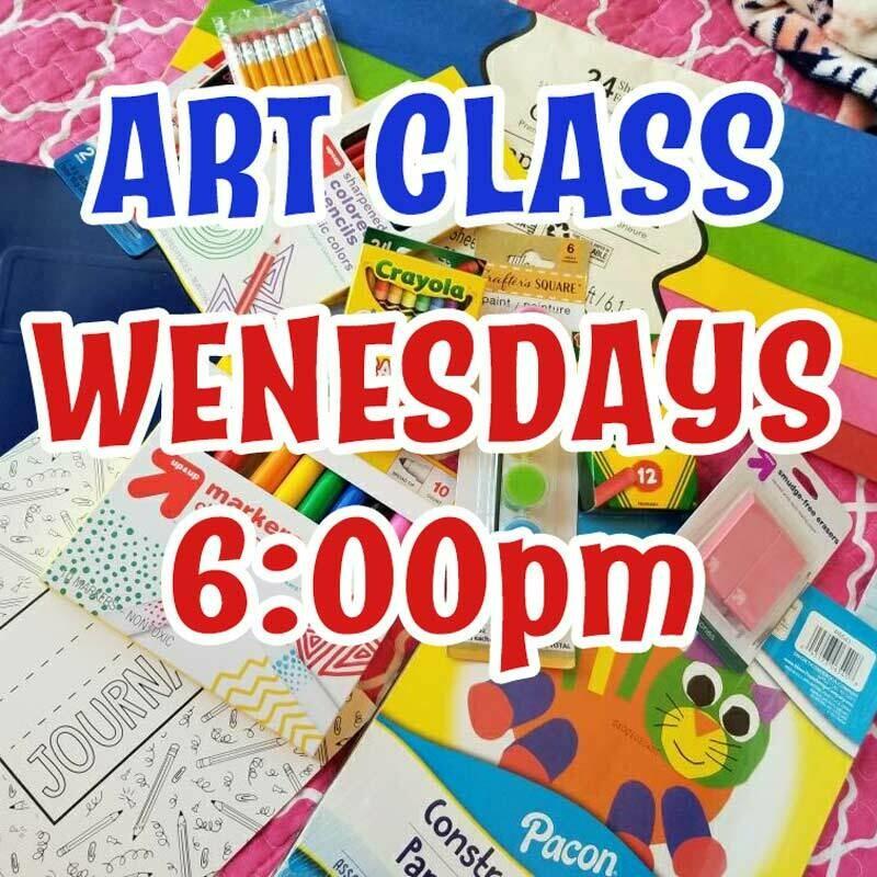 Art Class - Wednesdays 6:00pm-6:45pm